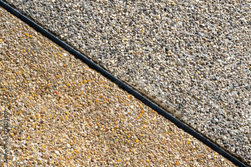 Photo Texture of the exposed aggregate finish flooring