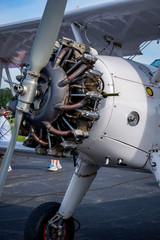 Antique airplane motor engine