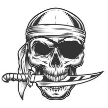 Skull With Knife