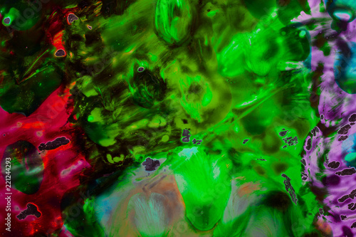 mystical abstraction of watercolors in dark tones fantastic background