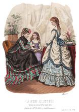 Gravure La Mode Illustrée 1869 14