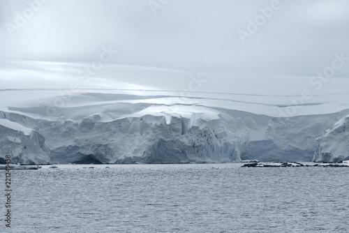 Fotografie, Obraz  Icy landscape at Neko Harbor, Andvord Bay, Antarctic Peninsula
