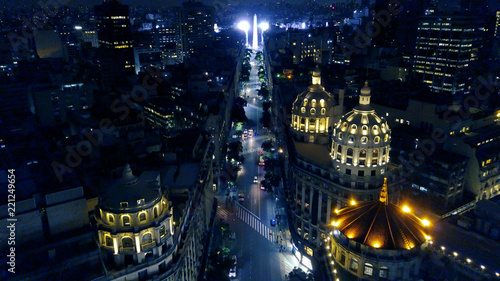Photo Stands Buenos Aires Buenos Aires obelisk night aerial