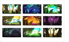 Tropical Jungle Landscapes Set...