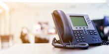 Close Up Telephone Landline At...
