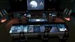 Futuristic science fiction command center V2.