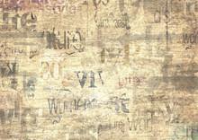 Old Vintage Grunge Newspaper Texture Background