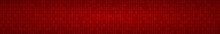 Abstract Horizontal Banner Or Background Of Zeros Ad Ones In Red Colors.