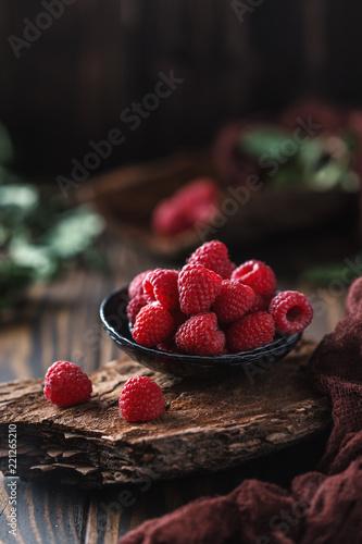 Fresh raspberries background. Fresh raspberry