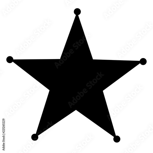 Fotografia, Obraz sheriff star icon on white background