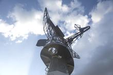 Radar On Military Ship Against...