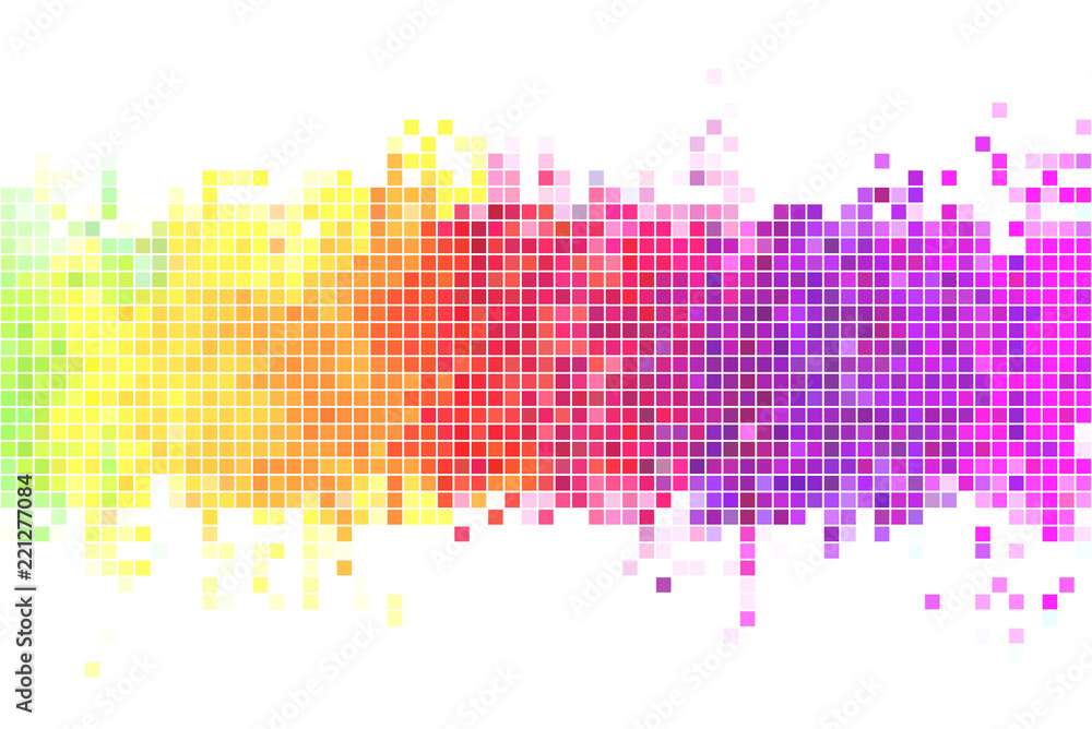 Fototapeta Colorful pixels background illustration