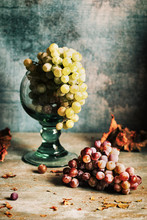 Grapes In A Glass Cup