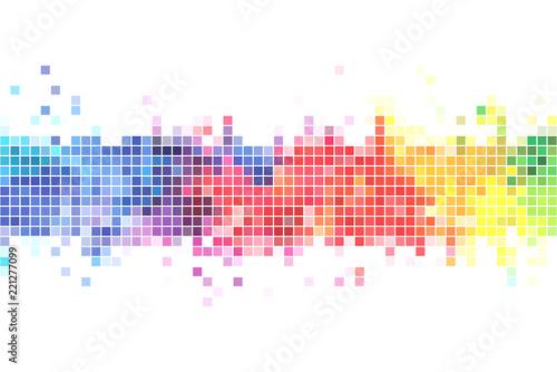 Fotografie, Obraz  Colorful pixels background illustration