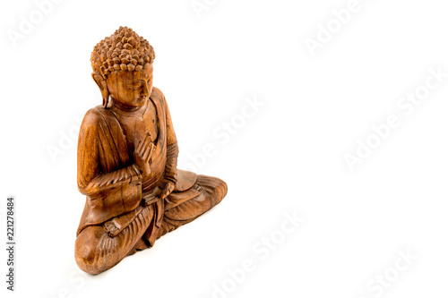 Foto  Wooden buddha statue