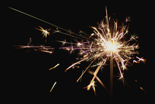 Closeup Sparkler Emitting Sparks