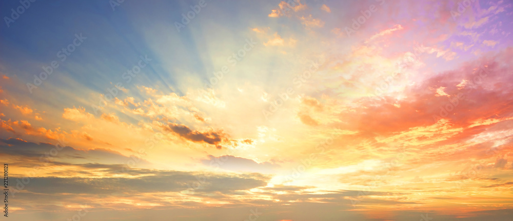 Fototapeta Celestial World concept:Sunset / sunrise with clouds