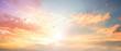 Leinwandbild Motiv Celestial World concept:Sunset / sunrise with clouds