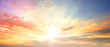 canvas print picture Celestial World concept:Sunset / sunrise with clouds