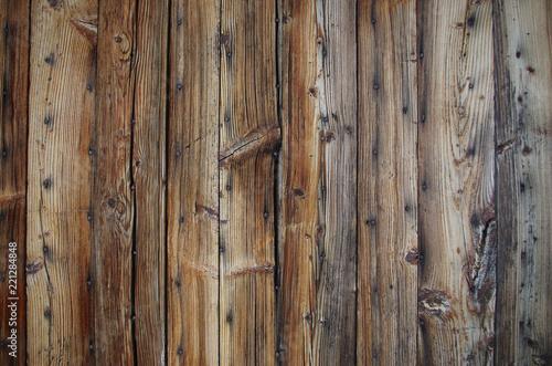 Fotografie, Obraz  Arrière plan: Anciennes planche de bois rustique avec des clous