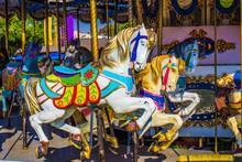 Merry Go Round Horses On Carou...