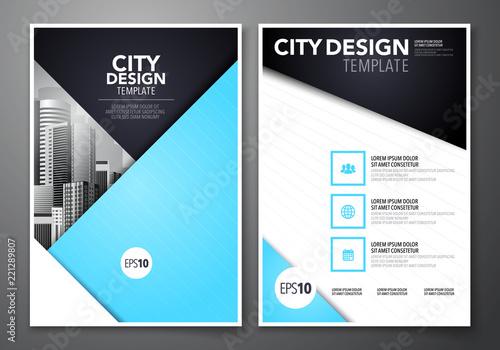 Vector illustration set of minimal simple business brochure flyer