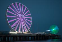 Steel Pier By Night Atlantic City