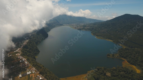 Aerial view of Lake Buyan,caldera lake at Bali  Beautiful