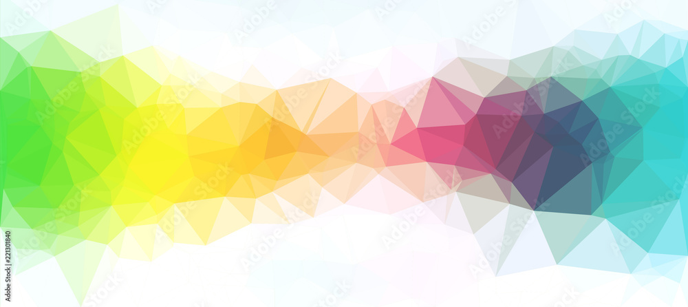 Fototapeta Colorful abstract polygonal background