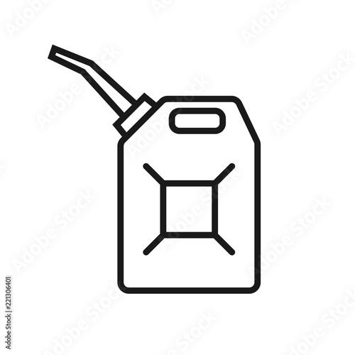 Fotografia Canister of gasoline icon