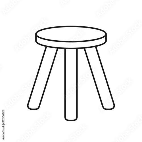 Pleasant Three Legged Stool Buy This Stock Vector And Explore Inzonedesignstudio Interior Chair Design Inzonedesignstudiocom