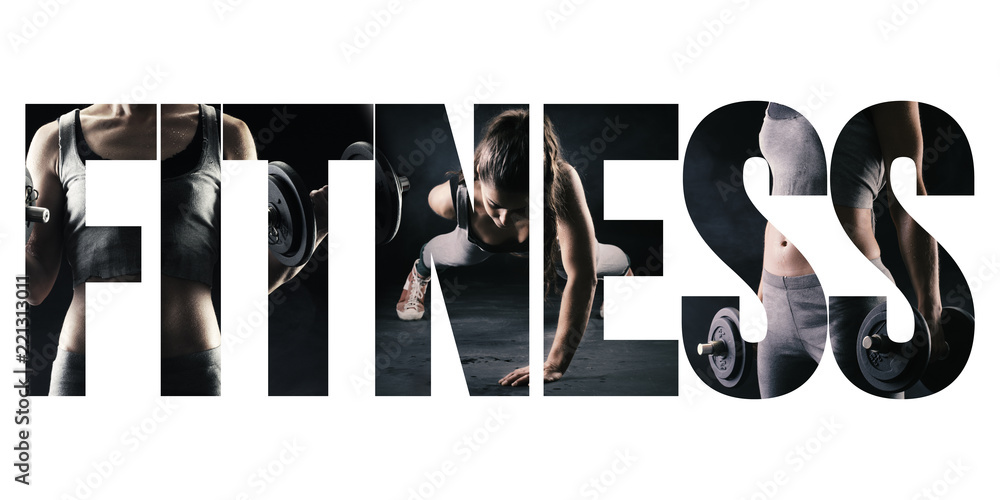 Fototapety, obrazy: Fitness, healthy lifestyle and sport concept