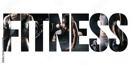 Fototapeta Fitness, healthy lifestyle and sport concept