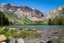 View Of Parker Lake In The Eastern Sierra Nevada Mountains, Near June Lake California