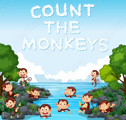 Count the monkey template