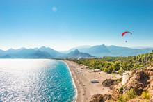 Panoramic Bird View Of Antalya...