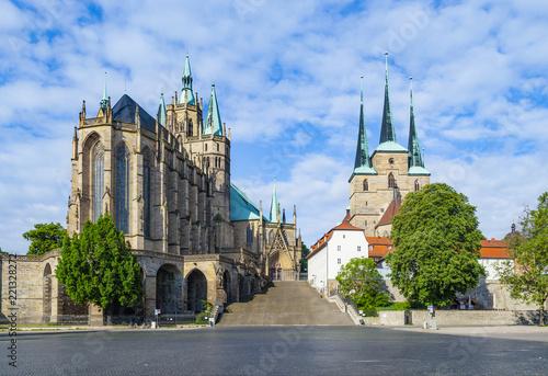 Foto Dom hill of Erfurt Germany