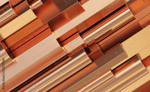 Fotografia Copper rolled metal products