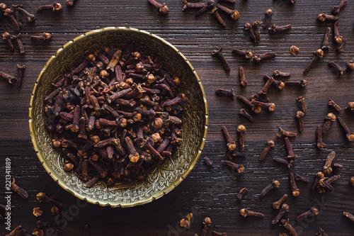 Fotografie, Obraz Brass Bowl of Cloves
