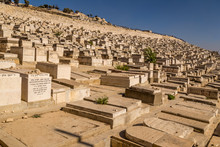 Graves At Old Jewish Cemetery In Jerusalem