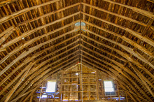 Windows Shed Light On Barn Rafters