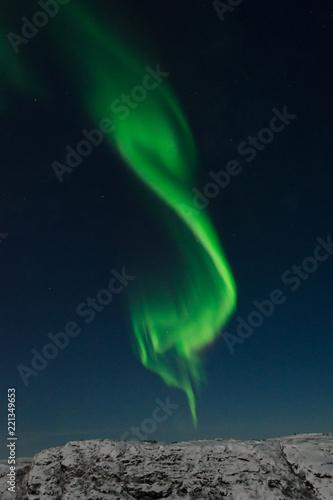 Fotografia, Obraz  Aurora Borealis,Northern lights over the tundra in winter.