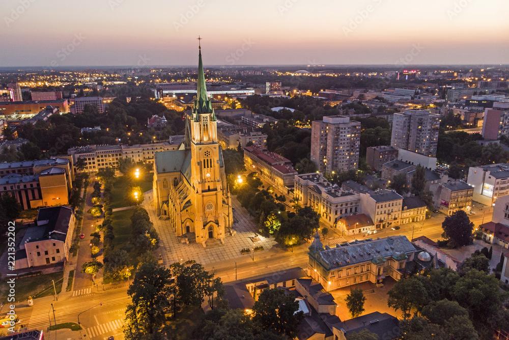 Fototapety, obrazy: Łódź, Polska- Bazylika archikatedralna.