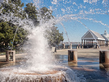 Fountain In Waterfront Park In...