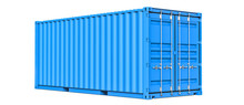 Blue Cargo Container Shipping ...