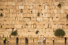Jews Praying At The Wailing Wall. The Western Wall, Called Wailing Wall Or Kotel, Is A Surviving Remnant Of The Temple Mount And The Holiest Place For Jews