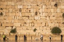 Jews Praying At The Wailing Wa...
