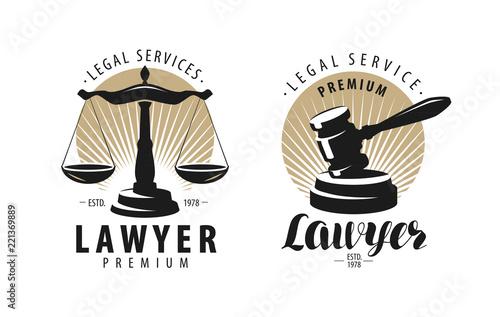 Cuadros en Lienzo Law office, attorney, lawyer logo or label