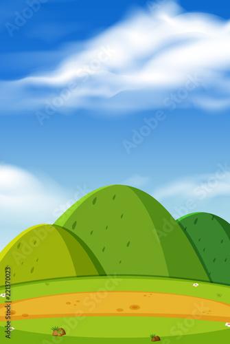 In de dag Lime groen A beautiful mountain landscape