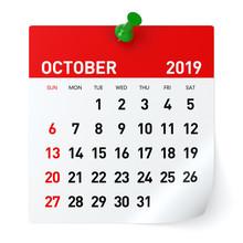 October 2019 - Calendar.